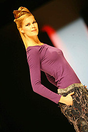 Tuva Heger model (modell). Photoshoot of model Tuva Heger demonstrating Runway Modeling.Runway Modeling Photo #93134