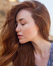 Valeria Gurevich model. Photoshoot of model Valeria Gurevich demonstrating Face Modeling.Face Modeling Photo #223999