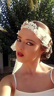 Valeria Kameri model. Photoshoot of model Valeria Kameri demonstrating Face Modeling.Face Modeling Photo #144914