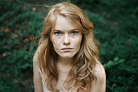 Valeriia Khilko model. Photoshoot of model Valeriia Khilko demonstrating Face Modeling.Face Modeling Photo #178217