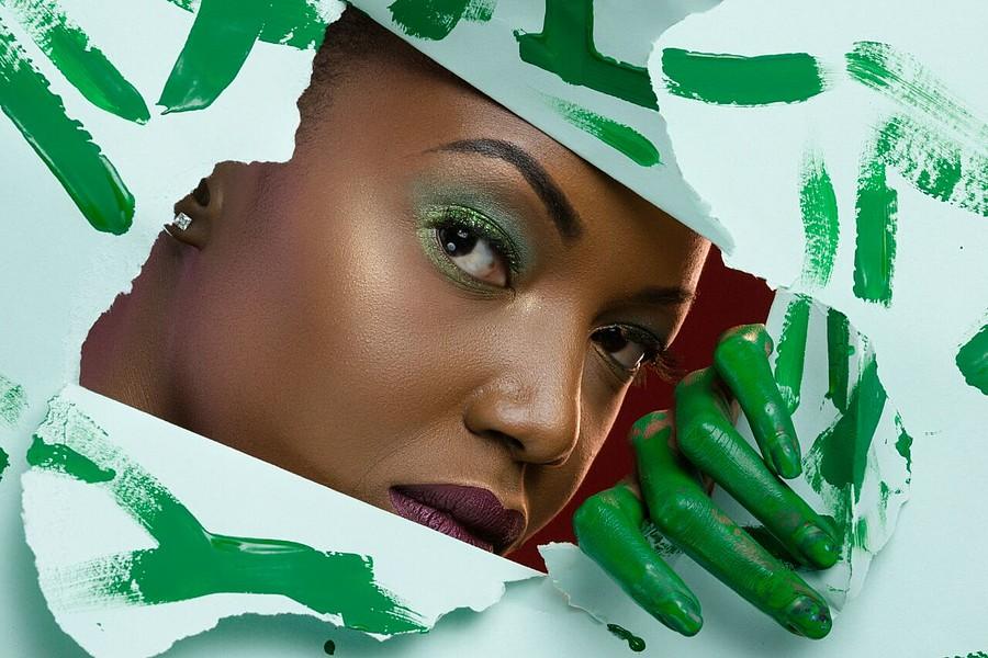 Vanessa Ochieng model. Photoshoot of model Vanessa Ochieng demonstrating Face Modeling.Face Modeling Photo #186323