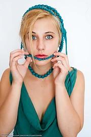 Venetia Psomiadou (Βενετία Ψωμιάδου) model & actress. Photoshoot of model Venetia Psomiadou demonstrating Face Modeling.Face Modeling Photo #198621