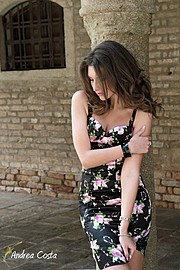 Veronica Lorini model (modella). Photoshoot of model Veronica Lorini demonstrating Fashion Modeling.Fashion Modeling Photo #160145