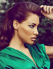 Veronika Kravchuk (Verónika Kravchuk) model & tv host. Photoshoot of model Veronika Kravchuk demonstrating Face Modeling.Face Modeling Photo #123777