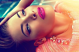 Veronika Kravchuk (Verónika Kravchuk) model & tv host. Photoshoot of model Veronika Kravchuk demonstrating Face Modeling.Face Modeling Photo #123778