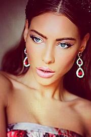 Veronika Kravchuk (Verónika Kravchuk) model & tv host. Photoshoot of model Veronika Kravchuk demonstrating Face Modeling.Face Modeling Photo #123810