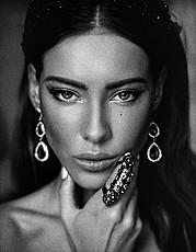 Veronika Kravchuk (Verónika Kravchuk) model & tv host. Photoshoot of model Veronika Kravchuk demonstrating Face Modeling.Face Modeling Photo #123819
