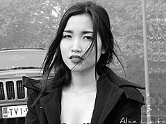 Vy Nguyen model. Photoshoot of model Vy Nguyen demonstrating Face Modeling.Face Modeling Photo #144905