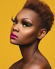 Maryanne Wairimu model. Wairimu Maryanne demonstrating Face Modeling, in a photoshoot by Victor Peace.photographer: Victor PeaceFace Modeling Photo #170071