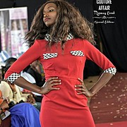 Waithera Njehia runway model. Photoshoot of model Waithera Njehia demonstrating Runway Modeling.Runway Modeling Photo #179370