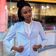 Waithera Njehia runway model. Photoshoot of model Waithera Njehia demonstrating Fashion Modeling.Fashion Modeling Photo #192839