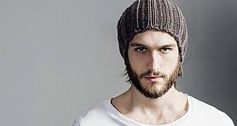 Walter Rossi model (modello). Photoshoot of model Walter Rossi demonstrating Face Modeling.Face Modeling Photo #95862