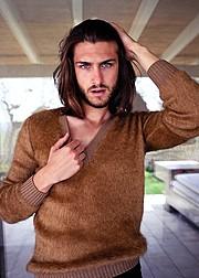 Walter Rossi model (modello). Photoshoot of model Walter Rossi demonstrating Face Modeling.Face Modeling Photo #95866