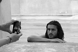 Walter Rossi model (modello). Photoshoot of model Walter Rossi demonstrating Face Modeling.Face Modeling Photo #95871