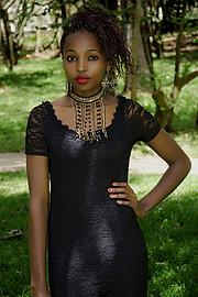 Wangui Mwaniki model. Photoshoot of model Wangui Mwaniki demonstrating Fashion Modeling.Fashion Modeling Photo #195769