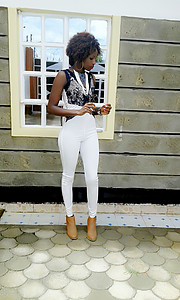 Wangui Mwaniki model. Photoshoot of model Wangui Mwaniki demonstrating Fashion Modeling.Fashion Modeling Photo #195793