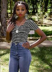 Wangui Mwaniki model. Photoshoot of model Wangui Mwaniki demonstrating Fashion Modeling.Fashion Modeling Photo #195795