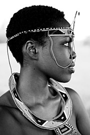 Winnie Wanja model. Photoshoot of model Winnie Wanja demonstrating Face Modeling.Face Modeling Photo #174750