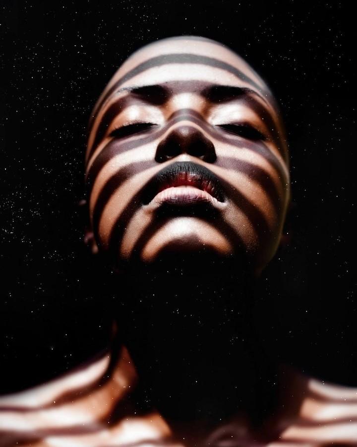 Winnie Wanja model. Photoshoot of model Winnie Wanja demonstrating Face Modeling.Face Modeling Photo #174751