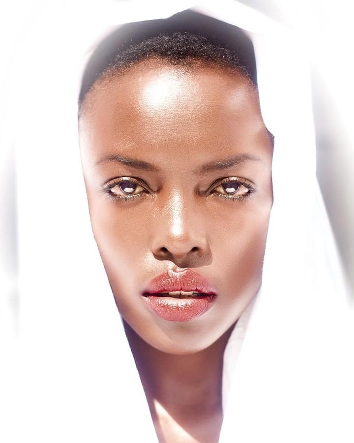 Winnie Wanja model. Photoshoot of model Winnie Wanja demonstrating Face Modeling.Face Modeling Photo #174753