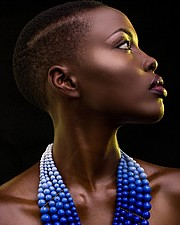 Winnie Wanja model. Photoshoot of model Winnie Wanja demonstrating Face Modeling.NecklaceFace Modeling Photo #174758