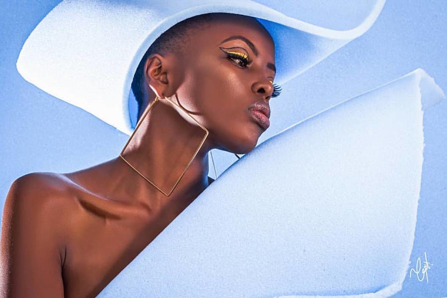 Winnie Wanja model. Photoshoot of model Winnie Wanja demonstrating Face Modeling.Face Modeling Photo #227472
