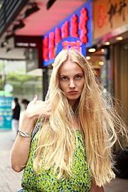 Xenia Duyun model (μοντέλο). Photoshoot of model Xenia Duyun demonstrating Face Modeling.Face Modeling Photo #166003