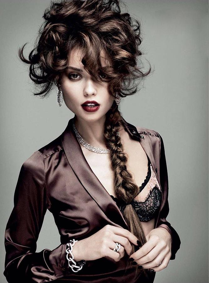 Yeva Don model & dj. Photoshoot of model Yeva Don demonstrating Face Modeling.Face Modeling Photo #111278