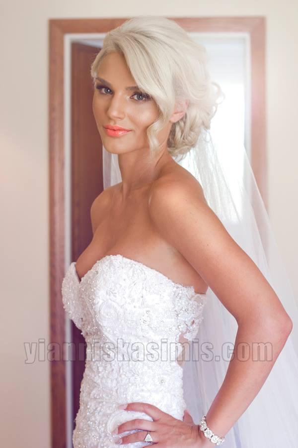 Yiannis Kasimis makeup artist (μακιγιέρ). Work by makeup artist Yiannis Kasimis demonstrating Bridal Makeup.Bridal Makeup Photo #113325