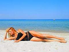 Yulia Agafonova model (μοντέλο). Photoshoot of model Yulia Agafonova demonstrating Body Modeling.SwimwearBody Modeling Photo #168188