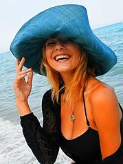 Yulia Agafonova model (μοντέλο). Photoshoot of model Yulia Agafonova demonstrating Face Modeling.Lookbook,SwimwearFace Modeling Photo #168191