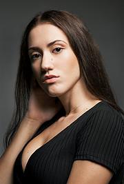 Zina Balati (Ζήνα Μπαλατή) model. Photoshoot of model Zina Balati demonstrating Face Modeling.Face Modeling Photo #222790